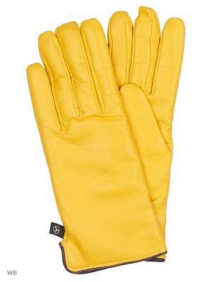 Перчатки MERCEDES-BENZ. Цвет: желтый