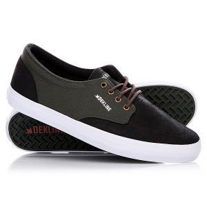 Кеды кроссовки низкие  Mason Black/Rosin Dekline. Цвет: зеленый,черный