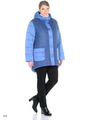 Пальто BERKLINE. Цвет: голубой