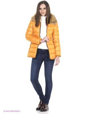Куртка Oodji. Цвет: желтый