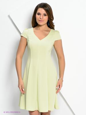 Платье AKIMBO. Цвет: салатовый, желтый