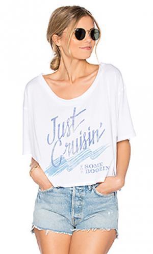Мешковатая пляжная футболка just boozin The Laundry Room. Цвет: белый