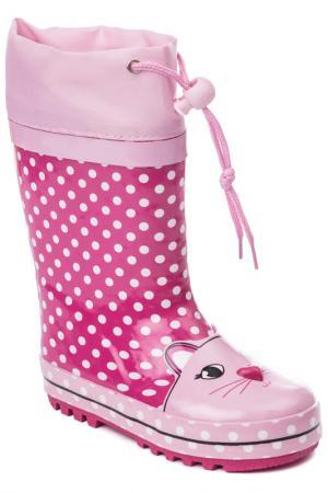 Сапоги PlayToday. Цвет: розовый, светло-розовый, белый