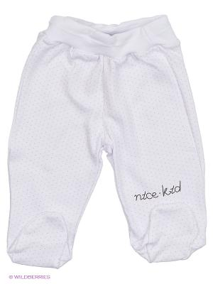 Ползунки NICE-KID. Цвет: молочный, бледно-розовый