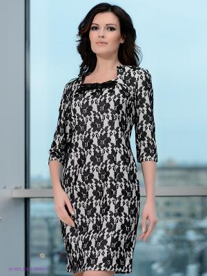 Платье Vaide. Цвет: серый, черный