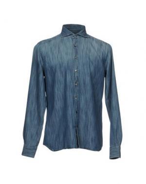 Джинсовая рубашка SEVENTY SERGIO TEGON. Цвет: синий