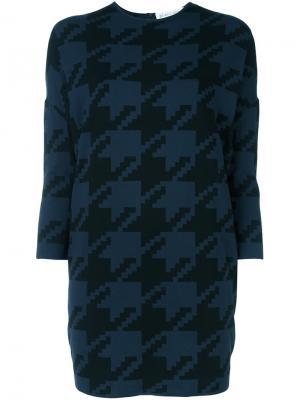 Пуловер с ломаную клетку Gianluca Capannolo. Цвет: синий