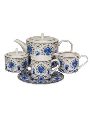 Сервиз чайный 17 предм. на 6 персон Ханнах Royal Porcelain. Цвет: молочный
