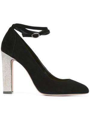 Туфли с ремешком на щиколотке Francesca Mambrini. Цвет: чёрный