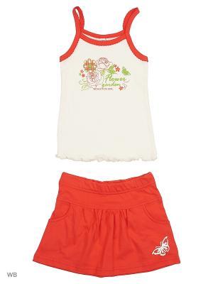 Комплект юбка-шорты с майкой ВАЛЕНТИНА СТИЛЬ. Цвет: красный