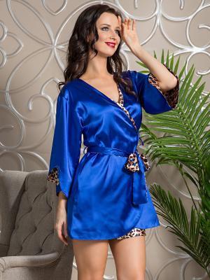 Халат Mia Sofia. Цвет: бежевый, синий