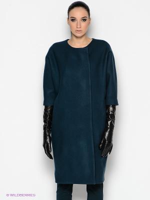 Пальто PALLARI. Цвет: темно-зеленый