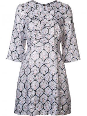 Платье с рукавами три четверти Suno. Цвет: синий