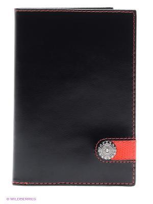 Обложка для паспорта Dimanche. Цвет: черный, красный