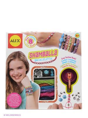 Набор для создания браслетов Шамбала от 8 лет Alex. Цвет: белый