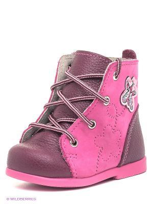 Ботинки Детский скороход. Цвет: бордовый, розовый
