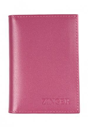 Визитница Zinger. Цвет: розовый