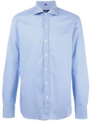 Printed shirt Fay. Цвет: синий