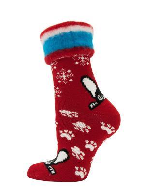 Новогодние носки HOSIERY. Цвет: красный