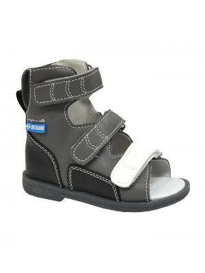 Обувь ортопедическая малосложная ETNA, арт.7.35.2 ORTMANN. Цвет: черный, серый