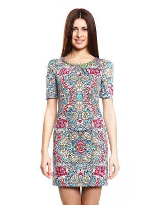 Платье TOPSANDTOPS. Цвет: темно-синий, голубой, красный