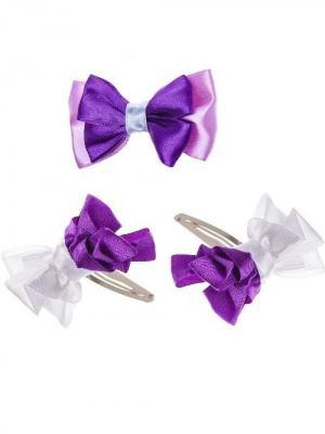 Набор аксессуаров для волос City Flash. Цвет: фиолетовый, белый, сиреневый