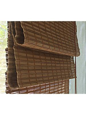 Бамбуковые римские шторы, какао, размер: 100х160 Эскар. Цвет: коричневый