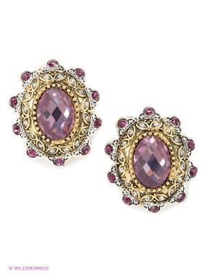 Серьги Bijoux Land. Цвет: бронзовый, фиолетовый