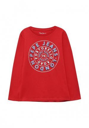 Лонгслив Pepe Jeans. Цвет: красный