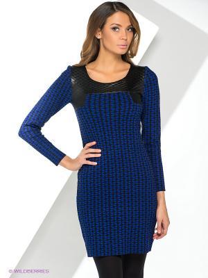 Платье Yuka. Цвет: черный, синий