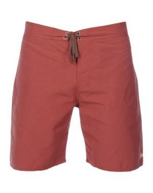 Пляжные брюки и шорты MOLLUSK. Цвет: ржаво-коричневый