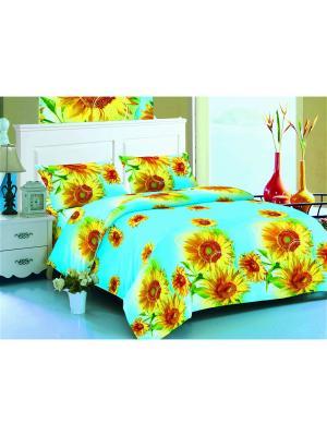 Комплект постельного белья Amore Mio  Maya 2 сп.. Цвет: голубой, желтый, зеленый