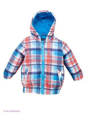 Куртка PlayToday. Цвет: голубой, красный, белый, фиолетовый