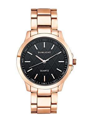 Часы наручные Sunlight. Цвет: черный, золотистый, серо-коричневый