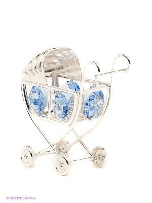 Фигурка Детская коляска Юнион. Цвет: голубой, серебристый