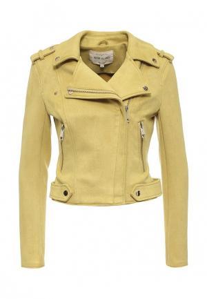 Куртка кожаная River Island. Цвет: желтый