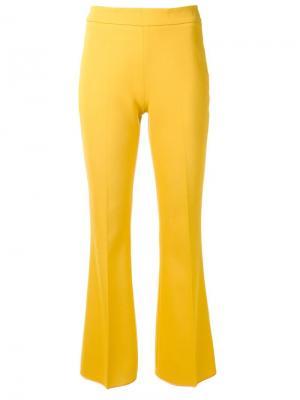 Расклешенные брюки Giambattista Valli. Цвет: жёлтый и оранжевый