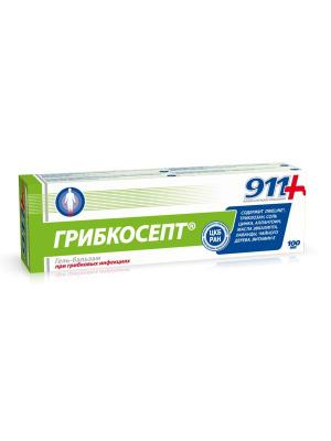 Грибкосепт. Гель для рук и ног при грибковых инфекциях 911 Ваша служба спасения (100 мл) ТВИНС Тэк. Цвет: синий, белый, зеленый