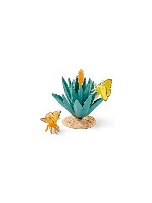 Набор Бабочки SCHLEICH. Цвет: желтый, зеленый, оранжевый