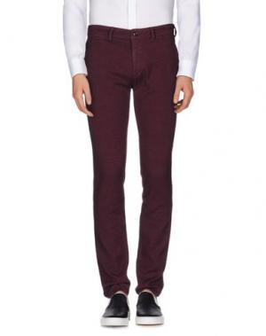 Повседневные брюки SARTORE. Цвет: пурпурный