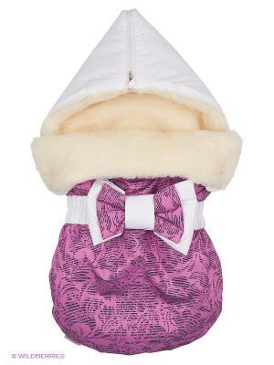 Конверт на овчине JustCute Лиловый рассвет 2.0. (зима) СуперМаМкет. Цвет: лиловый, белый