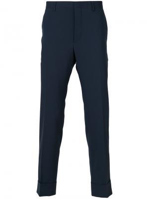 Классические брюки Prada. Цвет: синий