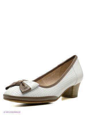 Туфли Covani. Цвет: белый, серо-коричневый