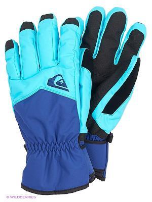 Перчатки Quiksilver. Цвет: голубой, синий