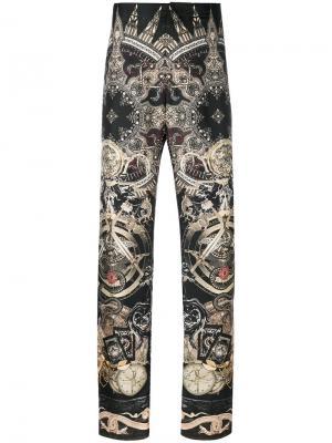 Пижамные брюки с принтом пейсли Roberto Cavalli. Цвет: коричневый
