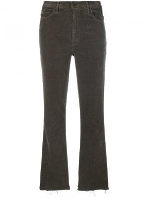 Расклешенные вельветовые брюки Mother. Цвет: серый