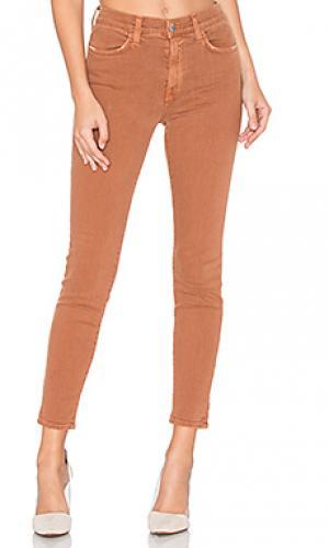 Укороченные джинсы с высокой посадкой rivington baldwin. Цвет: красный