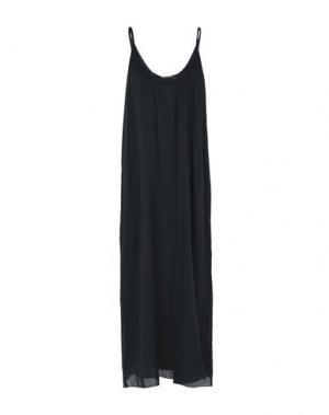 Длинное платье LOCAL APPAREL. Цвет: стальной серый