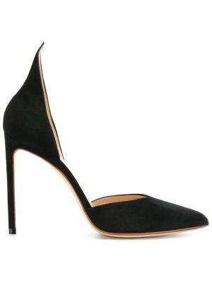 Туфли с завышенной пяткой Francesco Russo. Цвет: чёрный