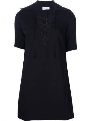 Платье на шнуровке Beau Souci. Цвет: чёрный